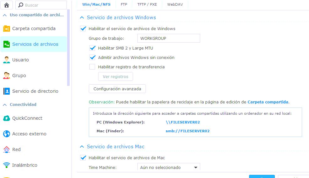 synology-servicio-archivos-windows-admitir-archivos-windows-sin-conexion