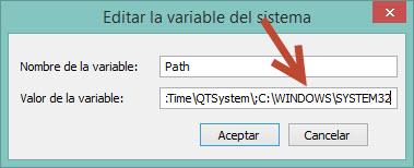path con system32