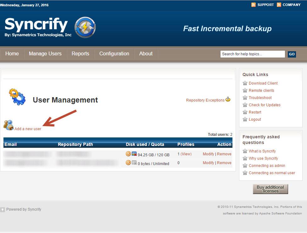 syncrify servidor 1