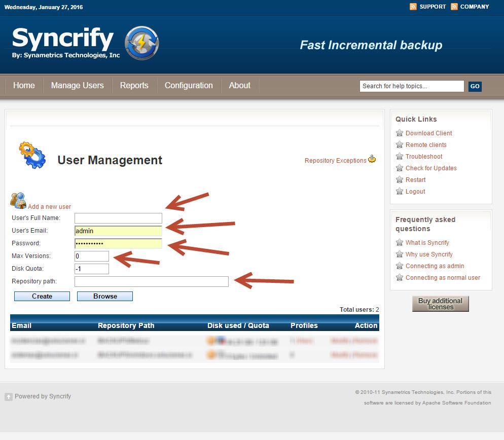syncrify servidor 2