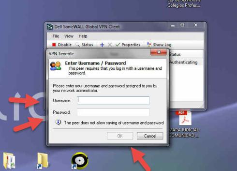 Conectar a VPN con el cliente Global VPN de Sonicwall